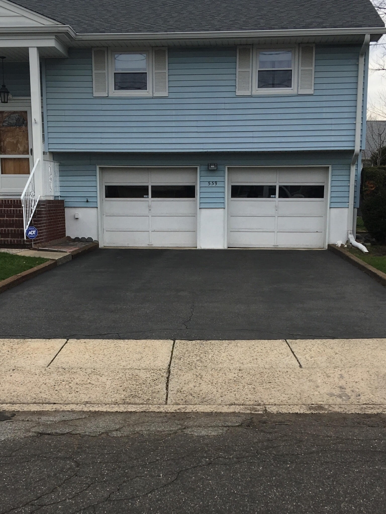 Residential Asphalt Sealcoating Before - Bergen County Sealcoating
